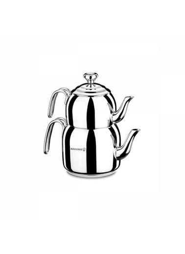 Korkmaz Droppa Midi Çaydanlık Takımı Renkli